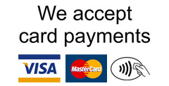 Arrow Locks and Glass accepts card payments
